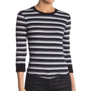 NWT Free People Striped Ribbed Top